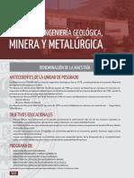 UNI-Unidad de Posgrado de la Facultad de Ingeniería Geológica, Minera y Metalúrgica