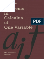 I. a Maron-Problems in Calculus of One Variable-Mir Publishers, Moscow (1973)