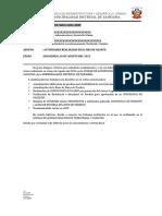 Informe de Actividades de Trabajo
