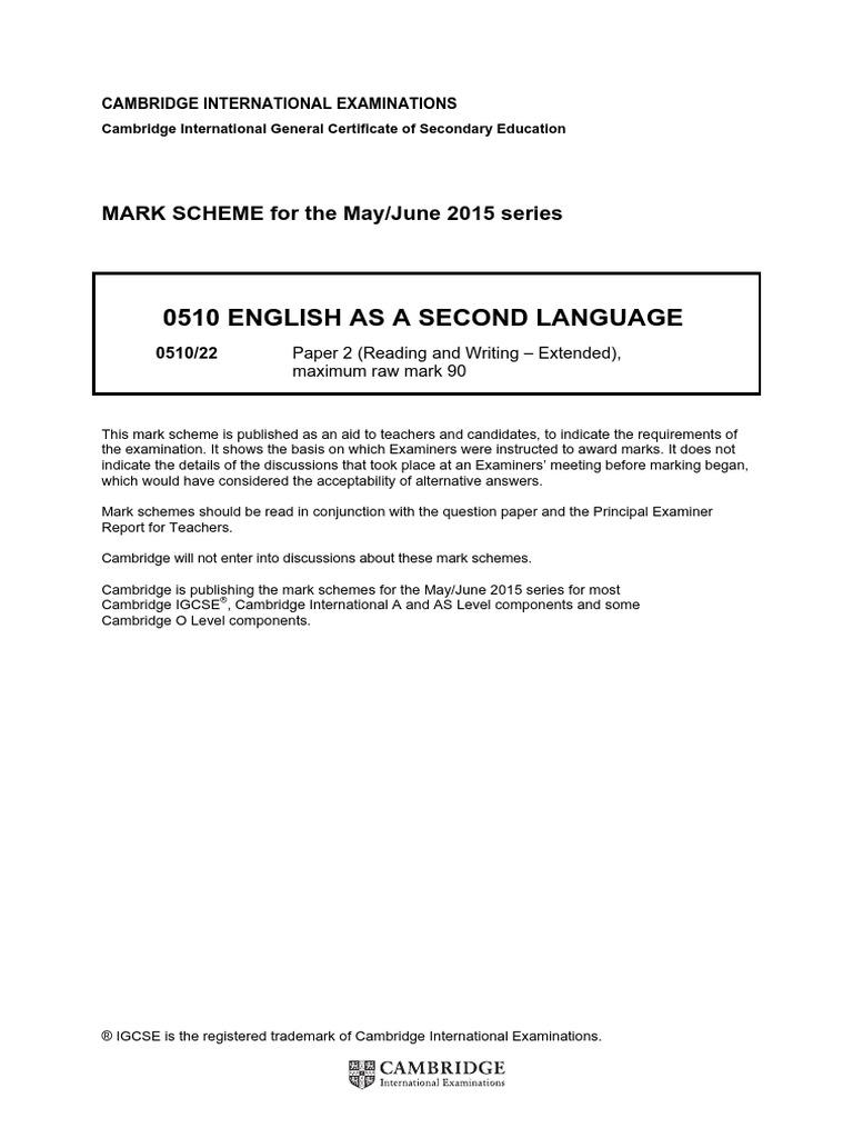tok essay mark scheme