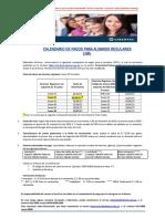Comunicado Calendario de Pagos 2017-I Lima