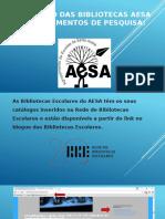 Catálogo das Bibliotecas AESA-procedimentos de pesquisa