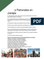 Fiestas Patronales en Zacapa