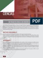 UNI-DOCTORADO EN CIENCIAS CON MENCIÓN EN MATEMÁTICA