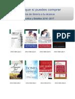Catalogo de libros favoritos y bolsillo  2016-2017