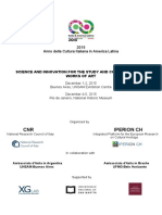 2015 Anno Della Cultura Italiana in America Latina Science and Innovation for the Study and Conservation of Works of Art