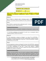 Modelo de Alteração de Decreto