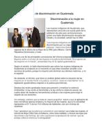 Actos de Discriminación en Guatemala