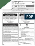 Diario Oficial El Peruano, Edición 9774. 01 de agosto de 2017