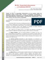 Tema 15. Seguridad Alimentaria y El Sistema APPCC