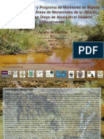 Plan de Manejo y Programa de Monitoreo de Signos Vitales Para Las Áreas de Manantiales de La Uma El Pandeño; y San Diego de Alcalá en El Desierto Chihuahuense.