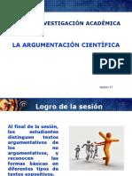 Sesion 17 La Argumentacion