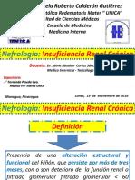 UNIDAD III - Nefrologia - Insuficiencia Renal Cronica - Fernanda Pineda Gea - Medicina Interna - UNICA