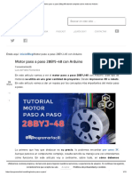 Motor Paso a Paso 28byj-48 Tutorial Completo Sobre Motores Arduino
