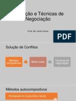 Mediação e Técnicas de Negociação