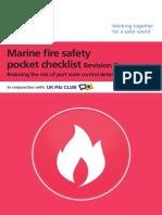 Marine Fire Safety Pocket Checklist - Rev. 2