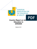Report on Adult Education in Sweden