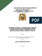 Tesis Magister Derecho Penal Universidad Nacional Mayor de San Marcos