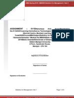 MB0040 Statistics for Management Set1