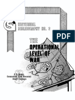 CSI Historical Bibliography No 3 - Operational Level of War