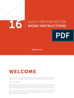 16 Quick Tips for Better Work Instructions Dozuki