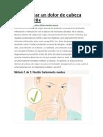 Cómo Tratar Un Dolor de Cabeza Por Sinusitis