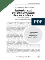 Kádár Annamária - Örömöt adó tevékenységek áramlatában