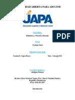 Trabajo Final - Yazmin Lopez - Didáctica y Práctica Docente