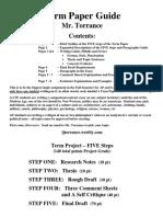 term paper guide