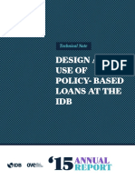 OVE Annual Report 2015 Technical Note Design and Use of Policy Based Loans at the IDB (1)