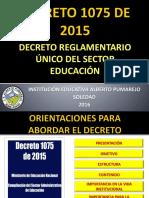 Decreto Reglamentario Unico 1075 de 2015