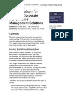Strategic Corporate Performance Management Solutions Magic Quadrant