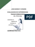 Evaluacion de Experiencias Transformadoras Administrativo