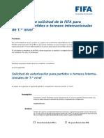 Formulariodesolicitudparaorganizarpartidosinternacionalesde1.Ernivel Spanish