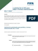 Formulariodesolicitudparaorganizarpartidosinternacionalesde2.Onivel Spanish