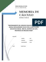 Memoria de Calculo Cupi