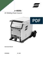 Aristopower-4600c Dc Welding Power Source 0558008884