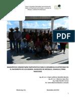 Diagnóstico Comunitario Participativo para el Desarrollo Sustentable en El Nacimiento de los Negros, municipio de Múzquiz, Coahuila (Tribu Mascogos).