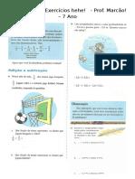 Mega Lista de Exercícios (números racionais e introdução a algebra).docx