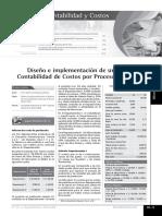 Diseño e implementación de un sistema de costos por Proceso - AE