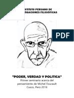 Primer seminario de poder, verdad y politica. Cusco - Perú