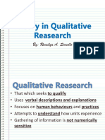Theory in Qualitative Reasearch