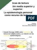 Prácticas de lectura en educación media superior y superior la epistemología personal como recurso de lectura