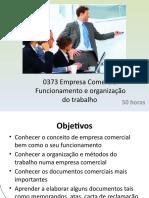 0373 Empresa Comercial Funcionamento e Organização Do Trabalho