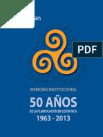 Memoria Institucional Mideplan 1963-2013