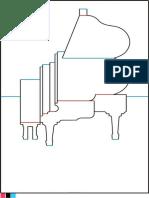 Piano Kirigami Template