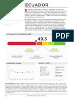 2017 INDEX OF ECONOMIC FREEDOM - Ecuador