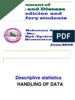 Descriptive Statistics for Medical Studnets 2016_2