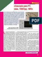 Osciloscopio Para PC-2 Canales 1MHZ