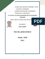 DETERMINACION Del concentrado de Cu en solución lixiviante.docx
